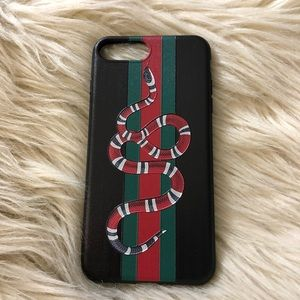 Other - Red white and green snake stripe iphone case